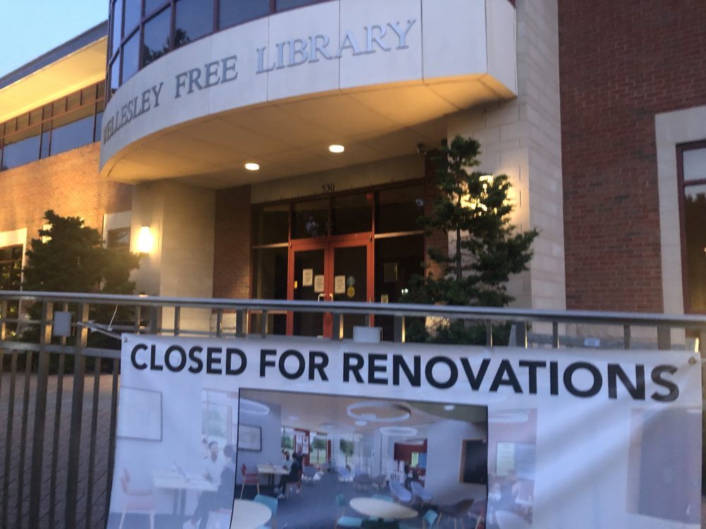 library renovations sign